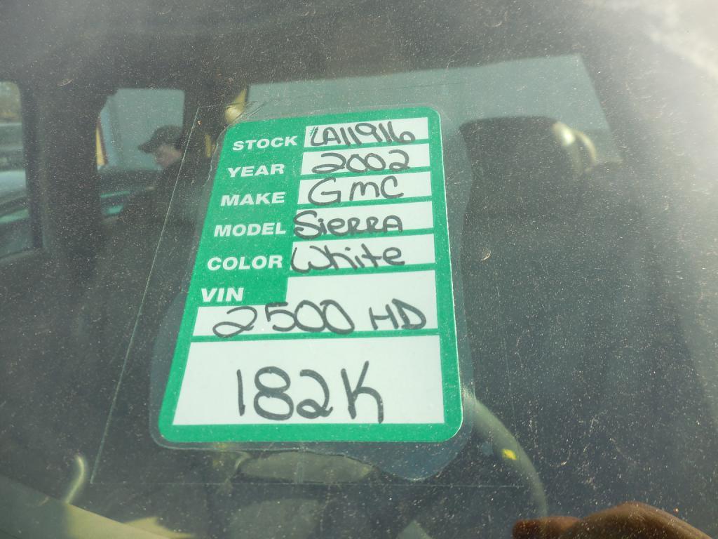 2002 GMC SIERRA 2500 HEAVY DUTY in Amherst
