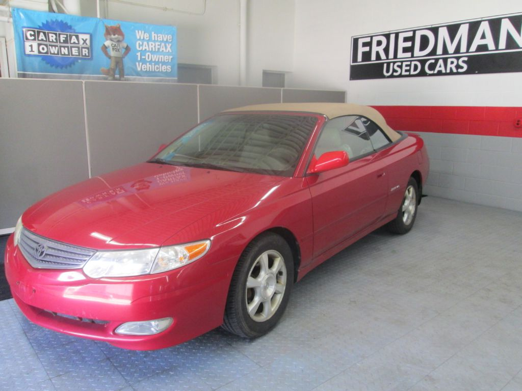 2002 TOYOTA CAMRY SOLARA SE for sale at Friedman Used Cars