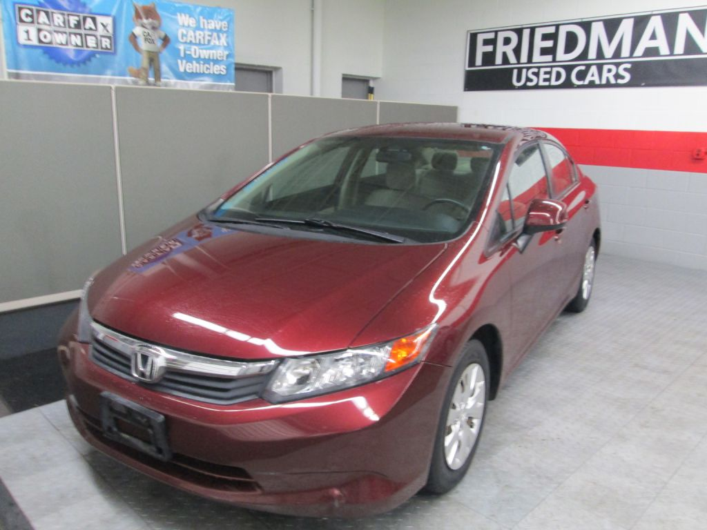 2012 HONDA CIVIC LX for sale at Friedman Used Cars