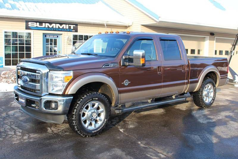 2011 FORD F250 SUPER DUTY LARIAT 4x4 LB POWERSTROKE for sale at Summit Motorcars