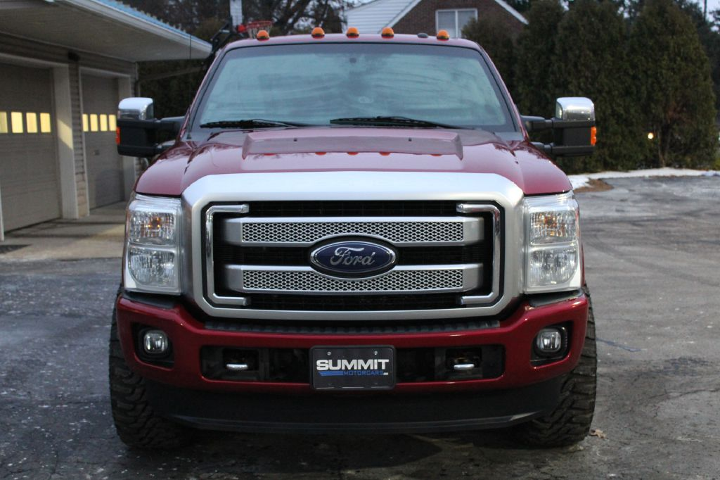 2014 FORD F350 PLATINUM 4x4 POWERSTROKE for sale at Summit Motorcars