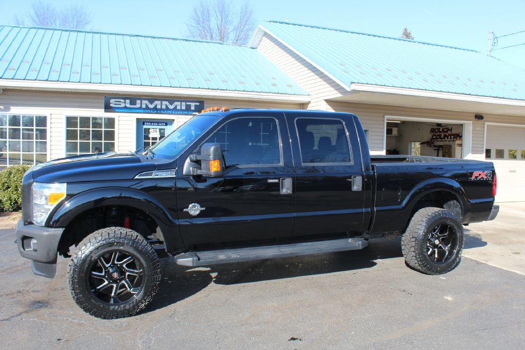 2016 FORD F250 XLT W/FX4 4x4 XLT w/FX4 POWERSTROKE for sale at Summit Motorcars