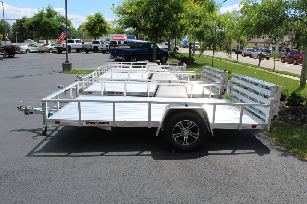 2022 SPORT HAVEN AUT712D-F 7x12 Alum Utility Trailer for sale at Summit Motorcars