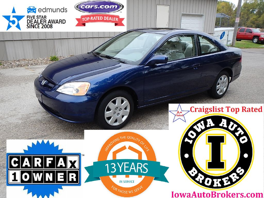 2002 HONDA CIVIC EX  Iowa Auto Brokers Marion IA