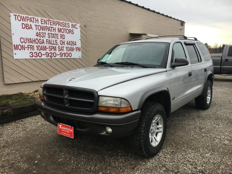 2002 Dodge Durango for sale at Towpath Motors | Used Car Dealer in Peninsula Ohio