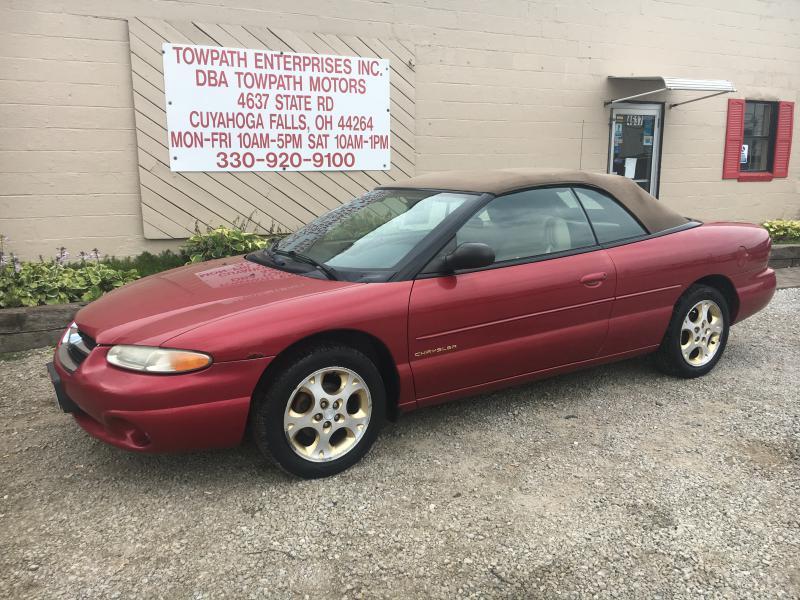 1998 Chrysler Sebring for sale at Towpath Motors | Used Car Dealer in Peninsula Ohio