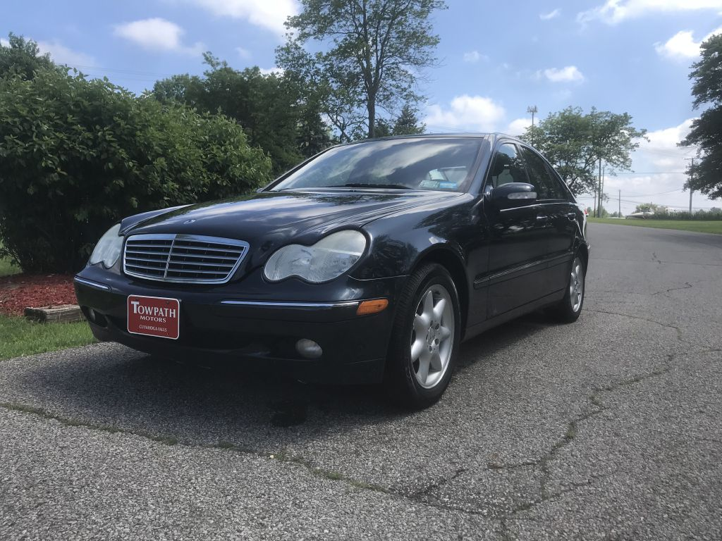 2004 Mercedes-benz C-class for sale at Towpath Motors | Used Car Dealer in Peninsula Ohio