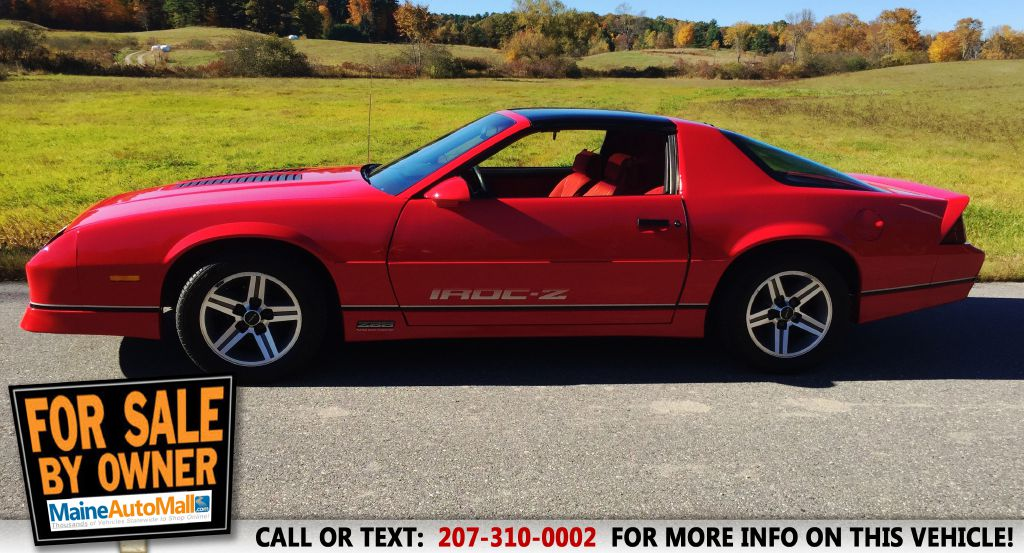 Your Used 1987 CHEVROLET CAMARO for Sale in Topsham ME - CHEVROLET ...
